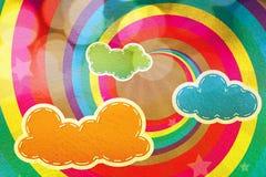 clouds färgrika designregnbågar Royaltyfri Fotografi