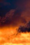 clouds färgrikt Arkivfoto