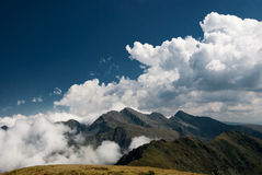Clouds in Fagaras royalty free stock image