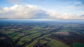 Clouds and Fields, Royalty Free Stock Photo