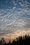 Clouds filled the sky. Morning summer day royalty free stock photography