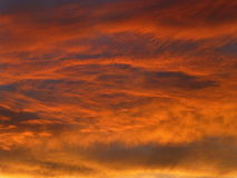 Clouds on Fire Royalty Free Stock Photo