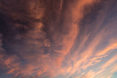 Clouds on fire Stock Image