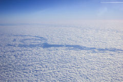 Clouds from the flight. Clouds below the flight while flying form Egypt Stock Images