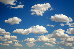 Clouds floating within the blue sky Stock Photography