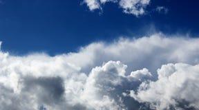 clouds fluffig white Fotografering för Bildbyråer