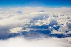 clouds fluffigt Royaltyfri Bild