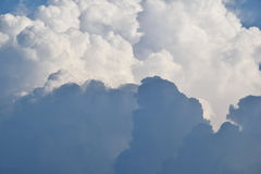 Clouds. Fluffy blue clouds on a cloudy day Royalty Free Stock Images