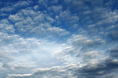 Clouds. Fluffy clouds in a blue sky Royalty Free Stock Image