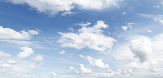 Clouds. Fluffy clouds in a blue sky Stock Photography