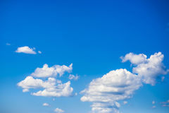 Clouds. Fluffy clouds over the blue sky stock images