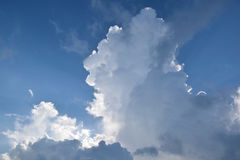 Clouds. Fluffy white clouds on a clear day Royalty Free Stock Photography