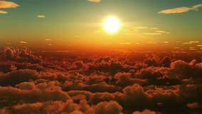 clouds flyg vektor illustrationer