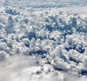 Clouds. Flying above the clouds. View from airplane window Royalty Free Stock Photos
