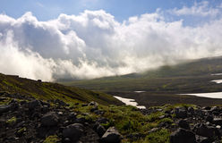 Clouds and fog in Kamchatka Stock Photography