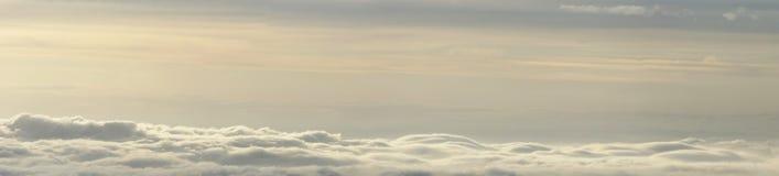 Clouds and fog panorama Stock Photos