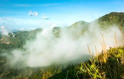Clouds and fogs on the mountain. Looked beautiful in morning, It is the phutabberk mountain in the northern of thailand Stock Photos