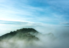 Clouds and fogs on the mountain stock photos