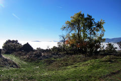 Clouds in foncebadon Royalty Free Stock Photography