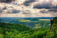 Clouds, Forest, Idyllic Stock Photography