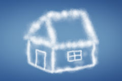 Clouds in the form of a house Stock Photos
