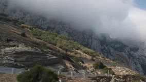 Clouds form on the Rock of Gibraltar