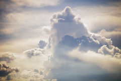 Clouds formation. Summer day sky with  clouds formation Stock Photo