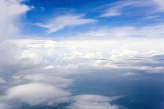 Clouds formations in blue sky Royalty Free Stock Image