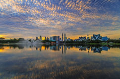 Clouds formations and reflections Stock Photography