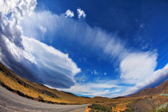 The clouds formed by glaciers Stock Photo