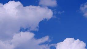 Clouds forming against blue sky. Timelapse shot.