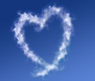 Clouds forming a heart Stock Photography