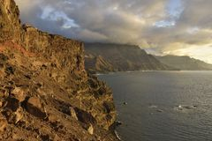 Rocky coastline of Gran Canaria stock photo