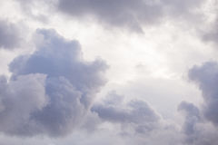 Clouds forming before the rain Royalty Free Stock Images