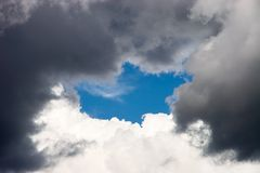 Clouds frame Stock Photography