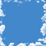 Clouds frame. Image shows summer blue sky framed with rendered clouds Royalty Free Stock Photo