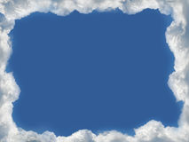 Clouds frame Royalty Free Stock Image