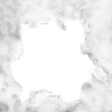 Clouds frame on white background Stock Photography