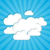 Clouds frames. Frames in the form of clouds on background sunlight Vector Illustration