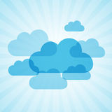 Clouds frames. Frames in the form of clouds on background sunlight Stock Illustration