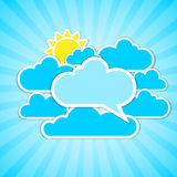Clouds frames Royalty Free Stock Photo