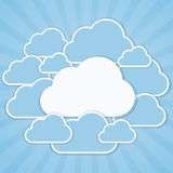 Clouds frames. Frames in the form of clouds on background sunlight Royalty Free Illustration