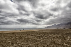 Clouds in Fuerteventura Stock Photography
