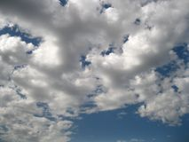 Clouds against the blue sky. stock images
