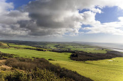 Clouds Gathering Over Abbotsbury Royalty Free Stock Photo