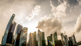 Clouds gathering over Singapore Stock Images