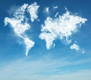 Clouds geography Royalty Free Stock Image