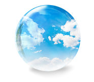 Clouds glass bubble Royalty Free Stock Image
