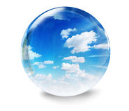 Clouds glass bubble Royalty Free Stock Photo