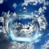 Clouds in a glass teapot photographed in Bloemfontein, South Africa